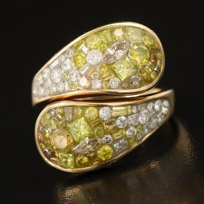 18K 3.01 CTW Diamond Bypass Ring