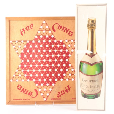 J. Pressman & Co. Wood Chinese Checker Board, Gourmet Challenge Game
