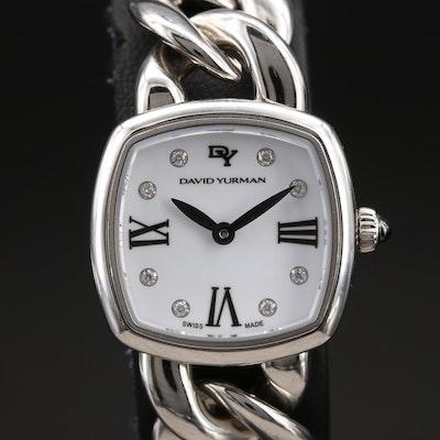David Yurman Albion Diamond Dial  and Stainless Steel Wristwatch