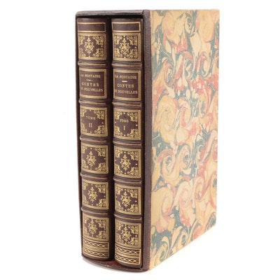 """French Language """"Contes et Nouvelles en Vers,"""" Facsimile of 1762 Edition"""