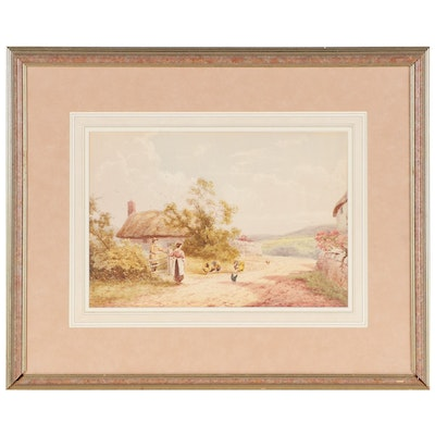 Horace Hammond Genre Watercolor Painting, Early 20th Century