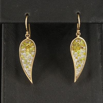 18K 1.58 CTW Diamond Drop Earrings