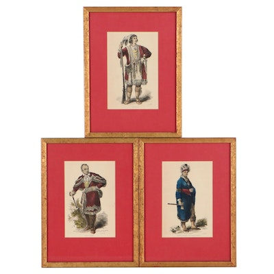 Charles Brownell Hand-Colored Wood Engravings of Chiefs, Circa 1854