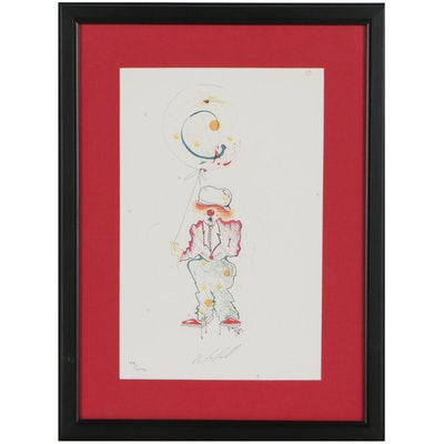 """Rick Pohl Offset Lithograph """"The Clown"""""""