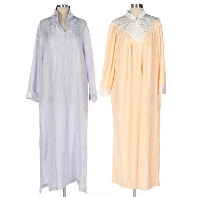 Christian Dior and Oscar de la Renta Long Zipper-Front Robes