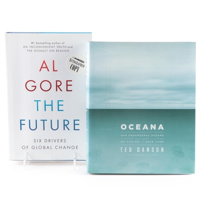 """Signed First Edition """"The Future"""" by Al Gore with """"Oceana"""" by Ted Danson"""