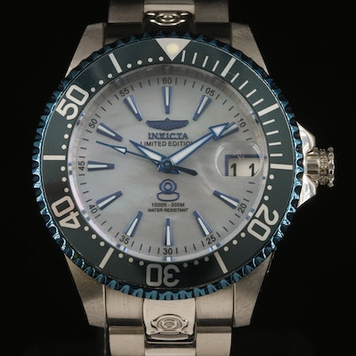 Invicta Limited Edition Grand Diver Stainless Steel Wristwatch