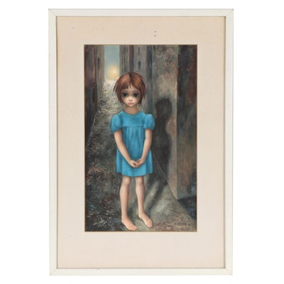 """Offset Lithograph After Margaret Keane """"First Grail"""""""