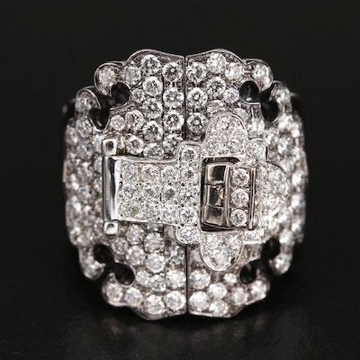 Dickson Yewn 18K 1.89 Diamond Buckle Ring