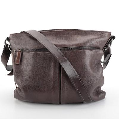 Prada Messenger Bag in Brown Grained Deerskin Leather