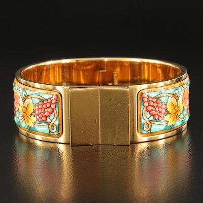 Hermès Vendanges Wide Enamel Clic Clac Bracelet with Hermès Bag