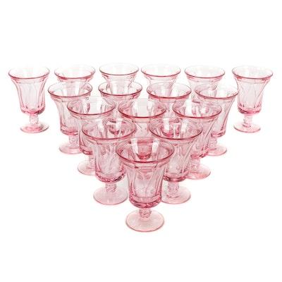 """Fostoria """"Jamestown"""" Pink Iced Tea Glasses, Mid-20th Century"""