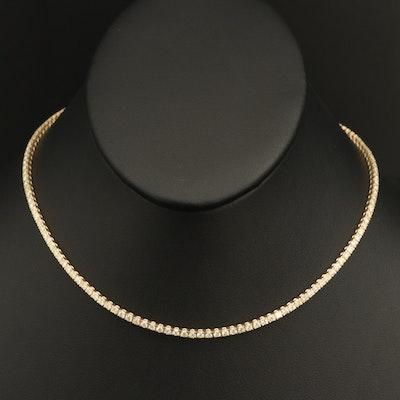 14K 5.26 CTW Diamond Rivière Necklace