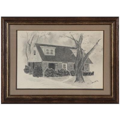 Al Weaver Residential Landscape Graphite Drawing
