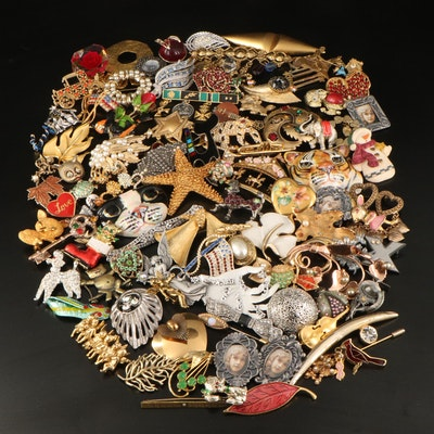 Edgar Berebi Angels Brooch Featured with Costume Pins and Brooches