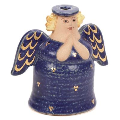 Lisa Larson for Gustavsberg Stoneware Angel Candlestick Holder