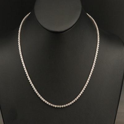 Sterling 3.05 CTW Diamond Rivière Necklace
