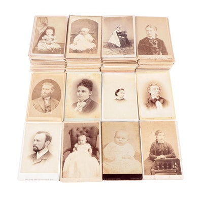 Portrait Cabinet Card Photographs, Mid-Late 19th Century