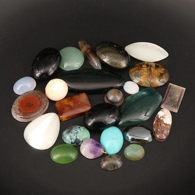 Loose Amethyst, Agate, Aventurine Quartz and Additional Gemstones