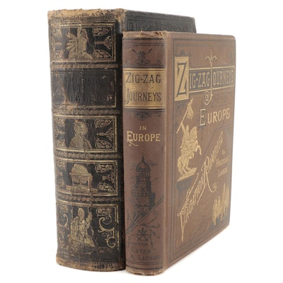 """Illustrated """"Zigzag Journeys in Europe"""" and More, Mid to Late 19th Century"""
