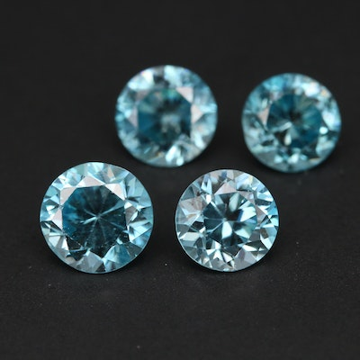 Loose 6.64 CTW Round Faceted Zircon