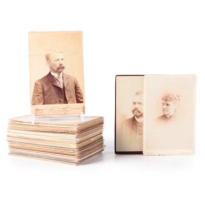Portrait Cabinet Card Photographs