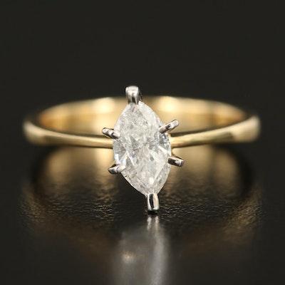 14K 0.57 CT Diamond Solitaire Ring