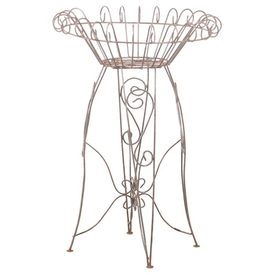 Scrolled Wire Plant Stand, Mid to Late 20th Century