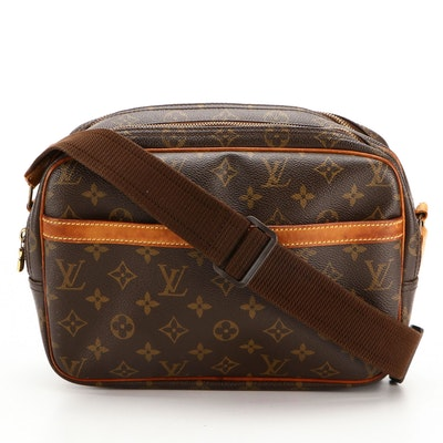 Louis Vuitton Reporter PM Bag in Monogram Canvas and Vachetta Leather