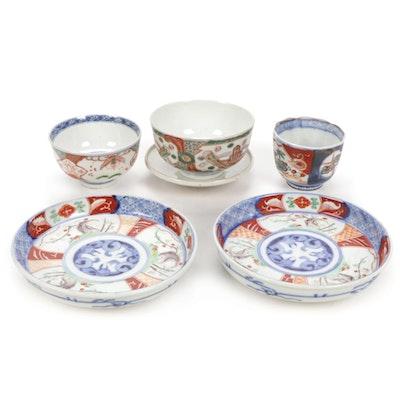 Japanese Imari Style Porcelain Dinnerware