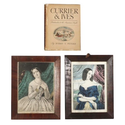 """""""Currier & Ives"""" by Harry T. Peters With Hand-Colored Lithographs"""