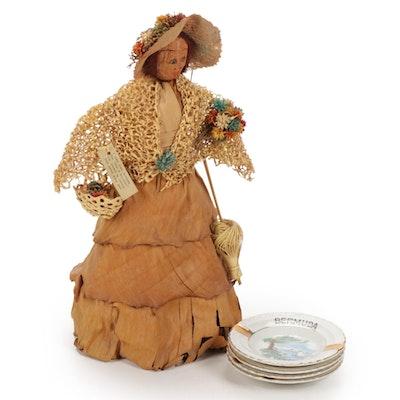 Bermuda Mary Gleeson Doll and Souvenir Ashtrays