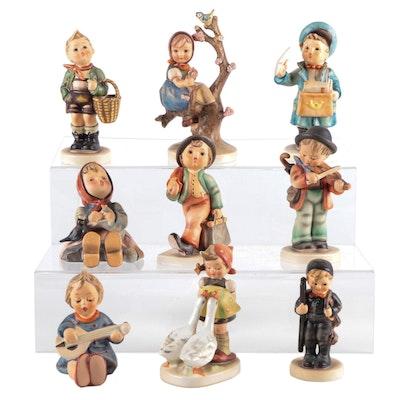 "Goebel ""Weary Wanderer"" and Other Porcelain Hummel Figurines"