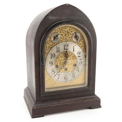 Seth Thomas Walnut Finish Bee Hive Mantel Clock, Early 20th Century