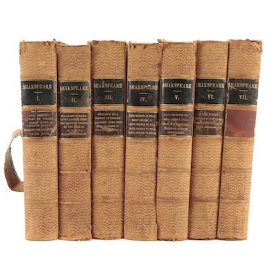 """""""The Dramatic Works of William Shakespeare"""" Seven-Volume Collection, 1844"""