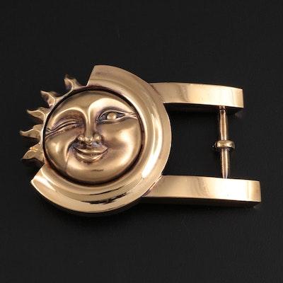 Barry Kieselstein-Cord Sterling Silver Sun Face Buckle