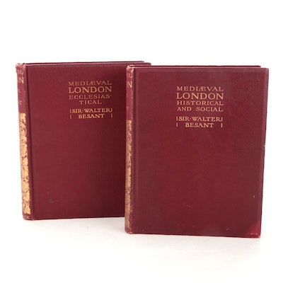 """""""Mediæval London"""" Two-Volume Collection by Walter Besant, 1906"""