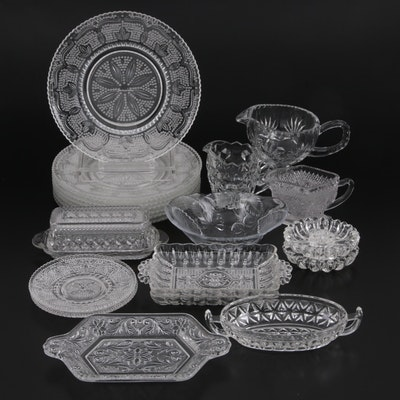 Pressed Glass Tableware and Table Accessories
