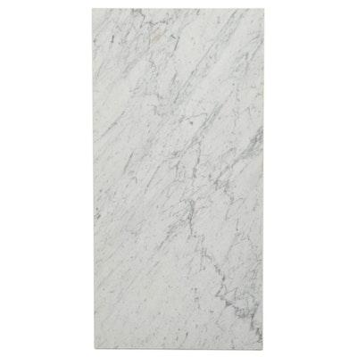 Rectangular Carrara Marble Table Top