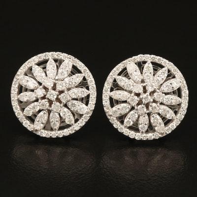 14K 1.39 CTW Diamond Openwork Earrings