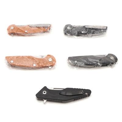 Drop Point Lockback Folding Knives, D2 Steel