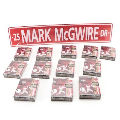 "Mark McGwire 500 Home Runs ""Upper Deck"" Box Set and ""Mark McGwire Dr."" Sign"