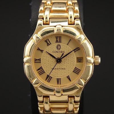Concord Saratoga 18K Quartz with Date Wristwatch