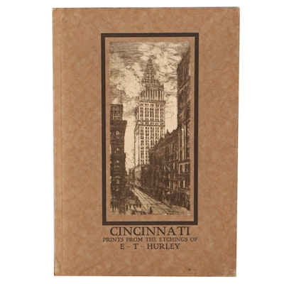 """First Issue """"Cincinnati: Prints From the Etchings of E. T. Hurley,"""" 1916"""