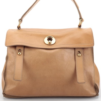 Yves Saint Laurent Muse Two Handbag in Bicolor Leather and Suede