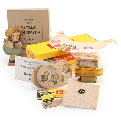 Kodak Film Boxes, Coasters, Postcards and More, Mid-20th Century