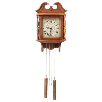 "New England Clock Co. ""The Colonial Revival Clock"" Pendulum Wall Clock"