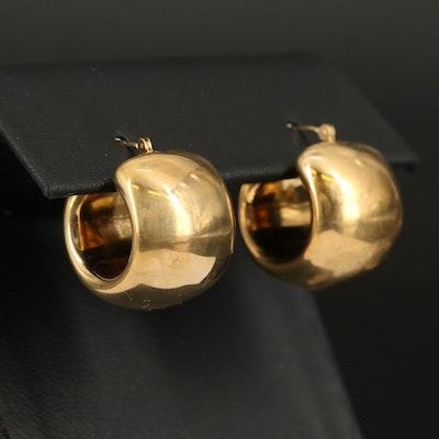 14K Electroform Hoop Earrings