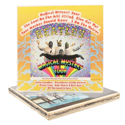 """The Beatles Vinyl Records Including """"Magical Mystery Tour"""" and """"Abbey Road"""""""