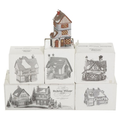 """Department 56 """"Dickens' Village"""" Porcelain Buildings, Figurines, and Accessories"""